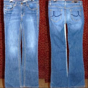 DKNY TIMES SQUARE JEANS Med blue bootcut 25✨